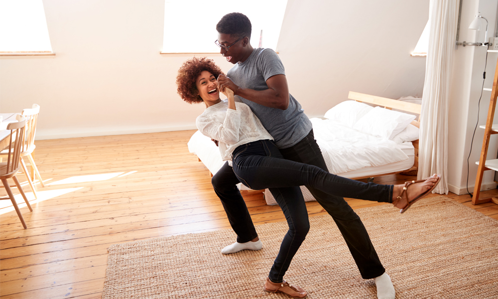 Couple Dancing in New Home Mortgages Regina